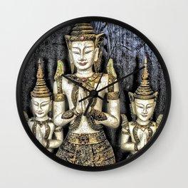 3 Buddhas Wall Clock