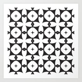 Mod | Black + White:  Pattern No. 29 Art Print