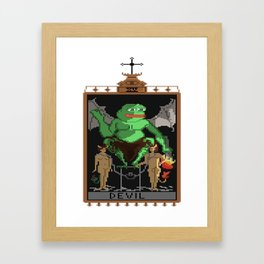 Praise the KEK Framed Art Print