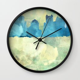 Water Color City Wall Clock