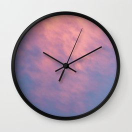 Purple Sky with Pink Clouds Wall Clock