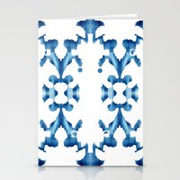 ikat Stationery Cards featuring Ikat by Lauren Heslop