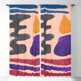 33| 190330 Abstract Shapes Painting Blackout Curtain