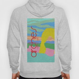 Arches National Park Postmodern Travel Poster Hoody