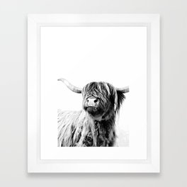 HIGHLAND CATTLE FRIDA Framed Art Print