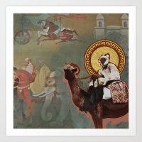 Silk Road Nomad Art Print