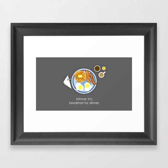 Brinner Framed Art Print