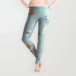 Christmas polar animals pattern 001 Leggings
