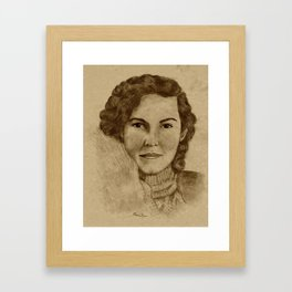 1930's Woman Framed Art Print