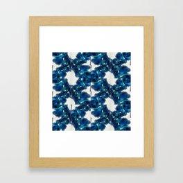 Blue Orchid Twist Framed Art Print