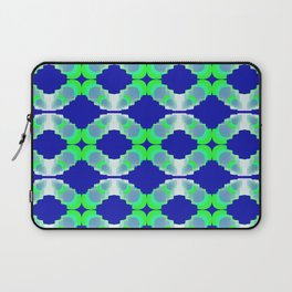 rings of chains on blue background Laptop Sleeve