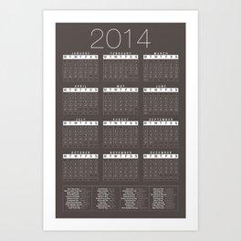 Jan C.P. Luna - 2014 Calender Poster - #10 Art Print