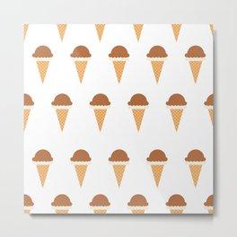 Chocolate and Vanilla Ice-creams Metal Print