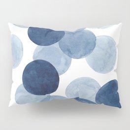 Indigo Ombre Circles Pillow Sham