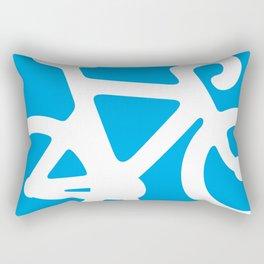 Blue Bike Rectangular Pillow