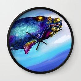 Bowhead Whale in the Blue Wall Clock