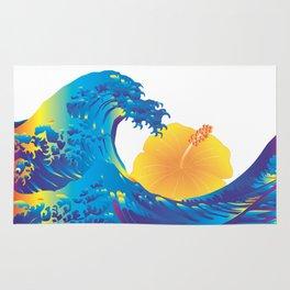 Hokusai Rainbow & Hibiscus_Y  Rug