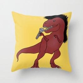 He-Rex Singer Throw Pillow