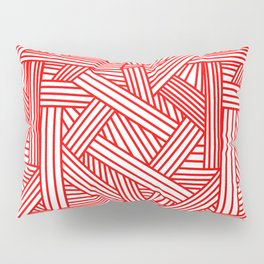Sketchy Abstract (Red & White Pattern) Pillow Sham