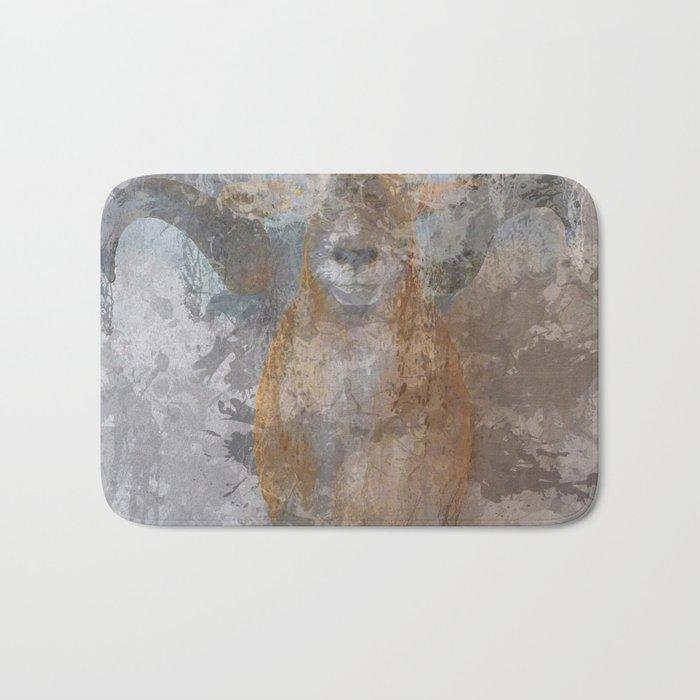 Oil paint buf Bath Mat