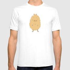 Thinking Capybara Mens Fitted Tee White MEDIUM