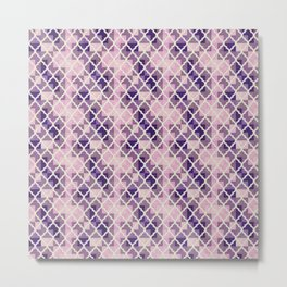 Pink & Purple Quatrfoil Metal Print