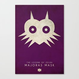 The Legend of Zelda: Majoras Mask- Nintendo 64 Minimalist Canvas Print