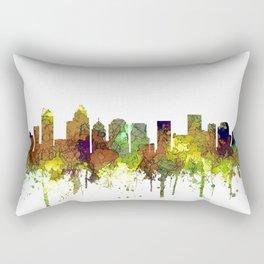 Charlotte NC Skyline SG Safari Buff Rectangular Pillow