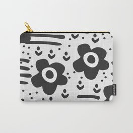 Abstract with flowers Carry-All Pouch