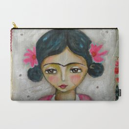 Frida Kahlo and bunny Carry-All Pouch