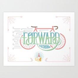 Forward Wisconsin Art Print