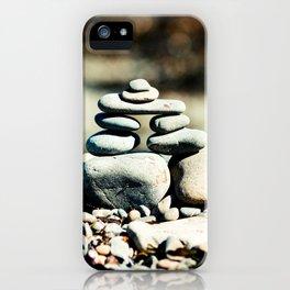 Inukshuk on Wellington Beach 2 iPhone Case