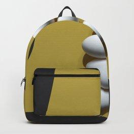 Eggs on yellow sheet Backpack