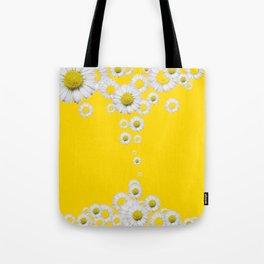 WHITE DAISIES WINDFALL YELLOW ART Tote Bag