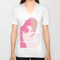 lucy V-neck T-shirts featuring Lucy by Polvo