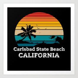 Carlsbad State Beach CALIFORNIA Art Print