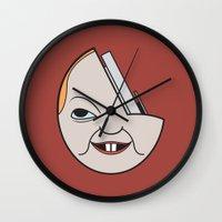 1975 Wall Clocks featuring Profondo Rosso (Dario Argento, 1975) by Simone G