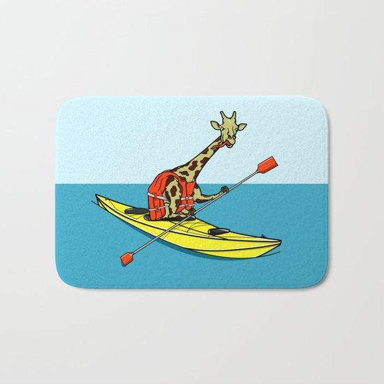 Giraffe Sea Kayaking Bath Mat