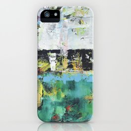 Aloe Abstract Painting Green iPhone Case