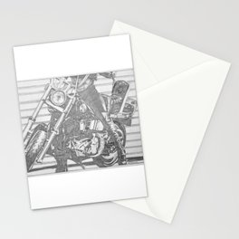 Biker Chick Stationery Cards