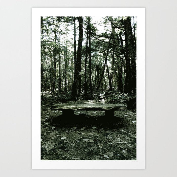 """""""Waiting for Death in the Sea of Trees"""" Art Print"""