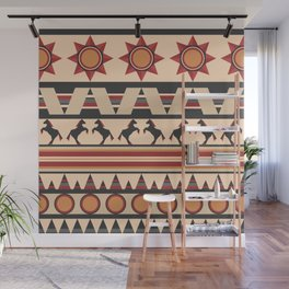 American Indians style repeating pattern Wall Mural