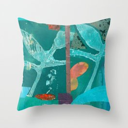 Turquoise Repeat Throw Pillow