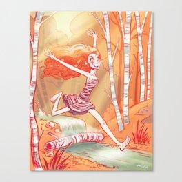 Beneath the Birch Canvas Print