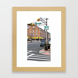 Bloomfield and North Willow Framed Art Print