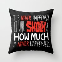 mad men Throw Pillows featuring Mad Men by Chris Piascik