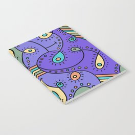 Abstracted Peacock Notebook