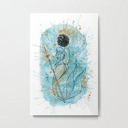 Wavy 2B Mermaid for my Mermay 2020 Curly Girl edition Metal Print