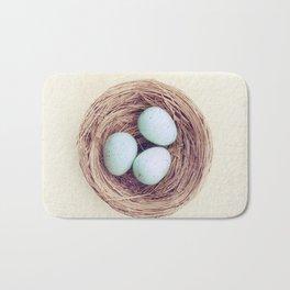 Birds Nest Photography, Robins Egg Nest, Spring Photography, Three Babies Bath Mat