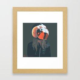 orange (from a photo by Sebastien Zanella) Framed Art Print